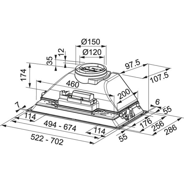 Фото - Вытяжка кухонная Franke FBI 525 XS HCS (305.0599.509)