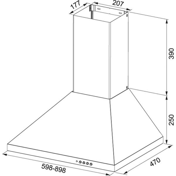 Фото - Вытяжка кухонная Franke FDL 665 XS LED1 (320.0521.537)