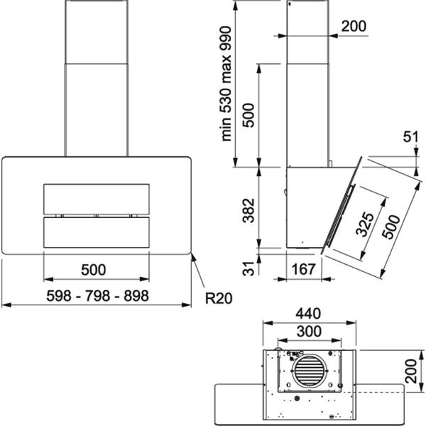 Фото - Вытяжка кухонная Franke FMA 605 WH, белый (110.0437.392)