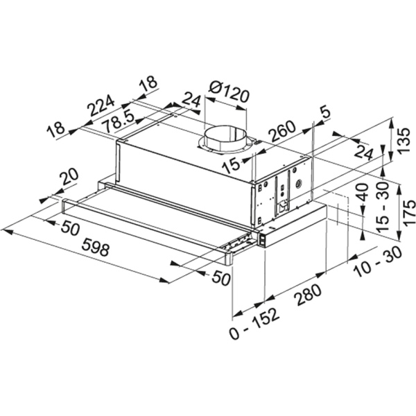 Фото - Вытяжка кухонная Franke FTC 632L GR/XS, металл (315.0547.796)