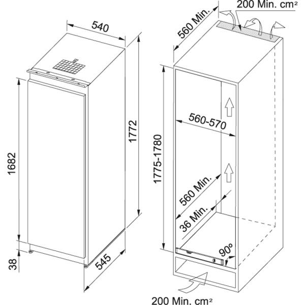 Фото - Холодильник Franke FSDR 330 NR V A+ (118.0532.599)