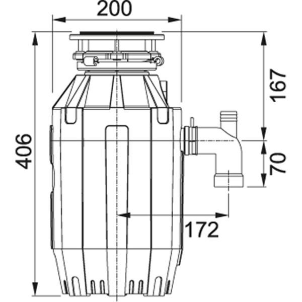 Фото - Измельчитель Franke TE-125 1,25 л.с., 930 Вт, пневмовыключатель в комплекте (134.0535.242)