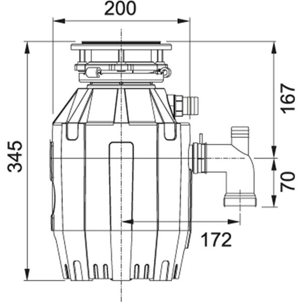 Фото - Измельчитель Franke TE-50 0,5 л.с., 375 Вт, пневмовыключатель в комплекте (134.0535.229)