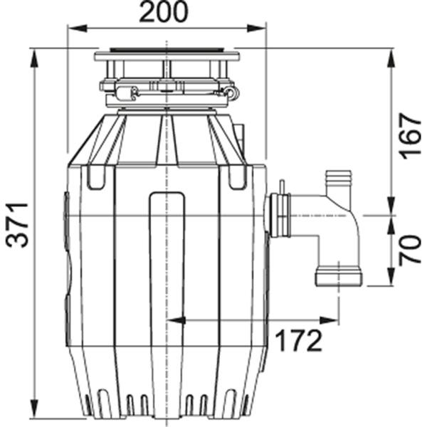 Фото - Измельчитель Franke TE-75 0,75 л.с., 550 Вт, пневмовыключатель в комплекте (134.0535.241)