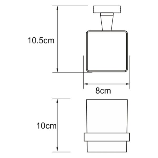 Подстаканник WasserKRAFT Dill K-3928 одинарный, фото