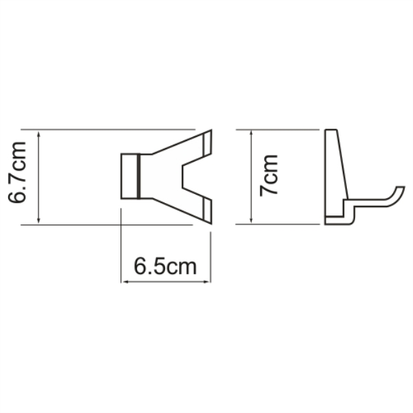 Крючок WasserKRAFT Lopau K-6023D двойной, фото