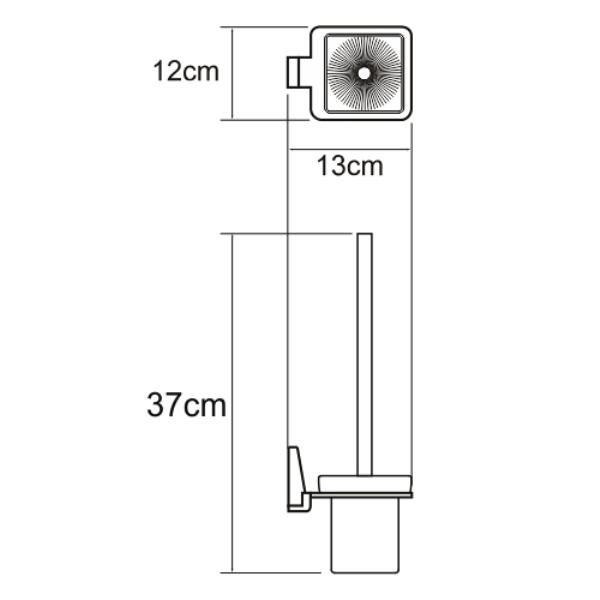 Щетка WasserKRAFT Lopau K-6027 для унитаза подвесная, фото