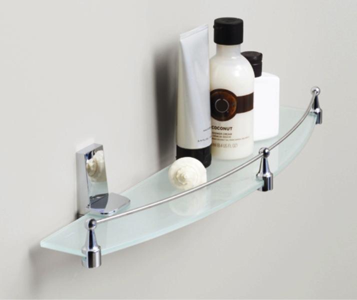 Полка WasserKRAFT Lopau K-6044 стеклянная с бортиком, фото