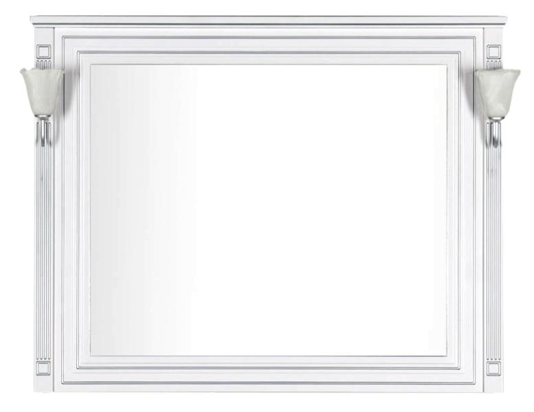 Фото - Зеркало Aquanet Паола 120 белый патина серебро без светил. (181768)