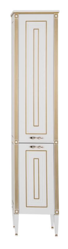Фото - Пенал Aquanet Паола 40 белый/патина золото (186112)