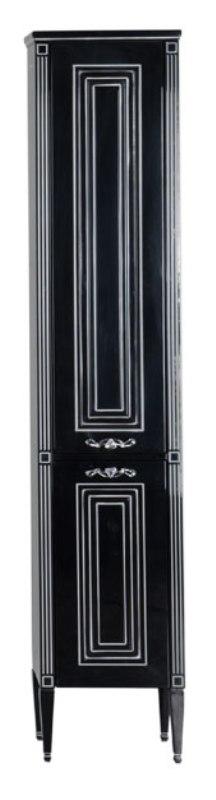 Фото - Пенал Aquanet Паола 40 черный патина серебро (181771)