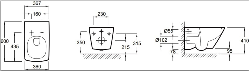 Фото - Унитаз подвесной Jacob Delafon ESCALE E1306-00 с крышкой/сиденьем микролифт на металлических шарнирах /60х37,5/ (бел)