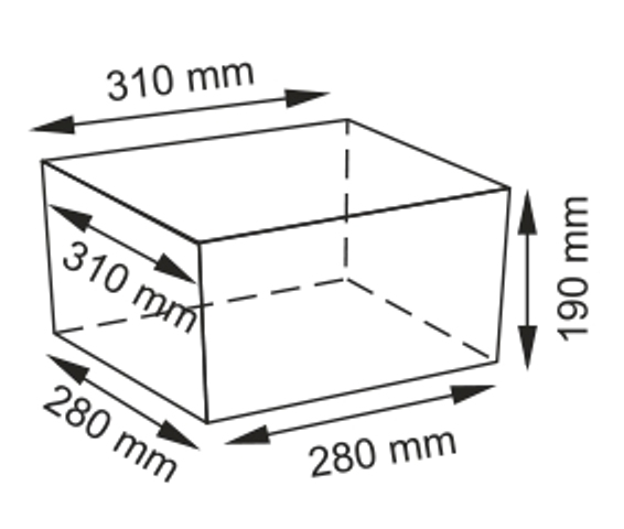 Плетеная корзина WasserKRAFT Dinkel WB-580-M прутья ивы, фото