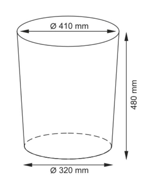Плетеная корзина WasserKRAFT Leine WB-350-M для белья с крышкой прутья ивы, фото