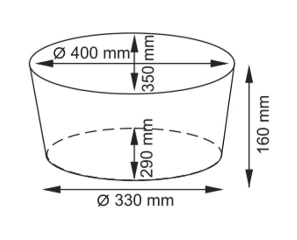 Плетеная корзина WasserKRAFT Rossel WB-280-M прутья ивы, фото