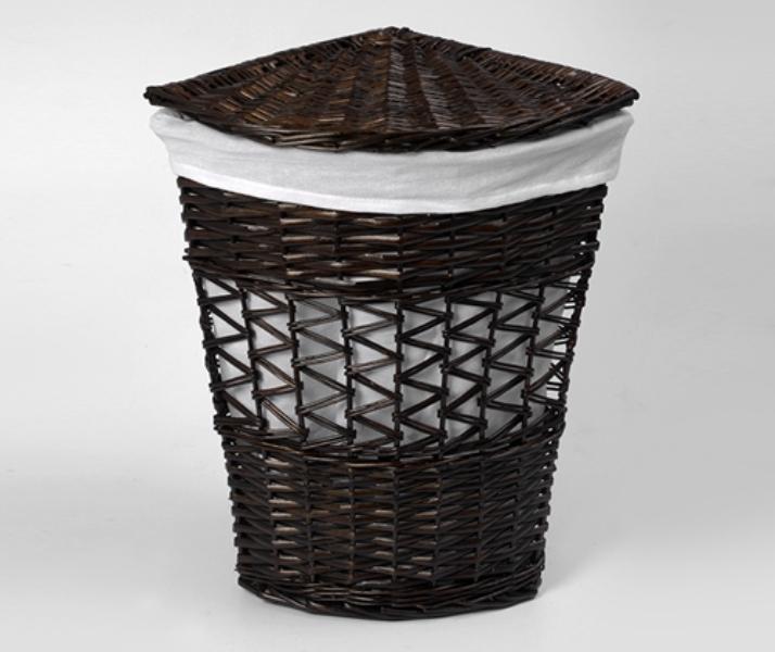 Плетеная корзина WasserKRAFT Salm WB-270-M для белья с крышкой прутья ивы, фото