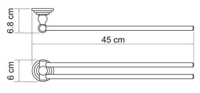 Держатель полотенец WasserKRAFT Ammer K-7031 рога металл, покрытие