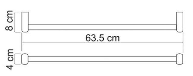 Штанга для полотенец WasserKRAFT Berkel K-6830 металл, хромоникелевое покрытие, фото