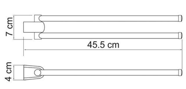 Держатель полотенец WasserKRAFT Berkel K-6831 рога металл, хромоникелевое покрытие, фото