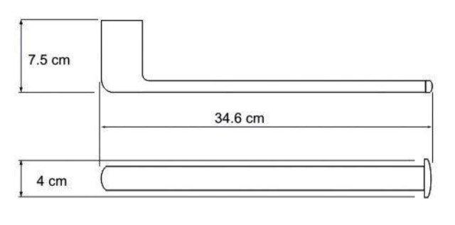 Держатель полотенец WasserKRAFT Berkel K-6851 металл, хромоникелевое покрытие, фото