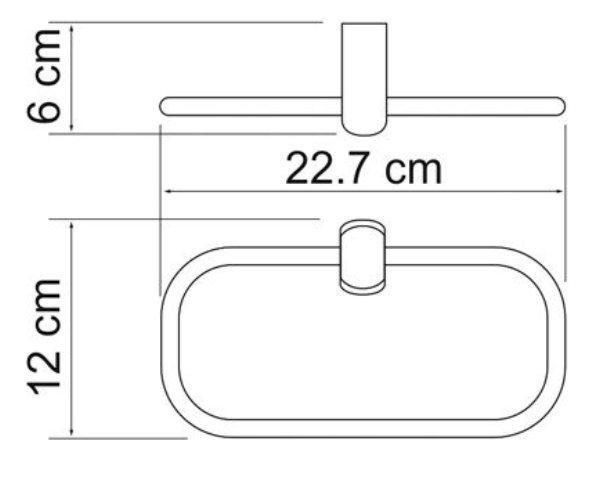 Держатель полотенец WasserKRAFT Berkel K-6860 кольцо металл, хромоникелевое покрытие, фото