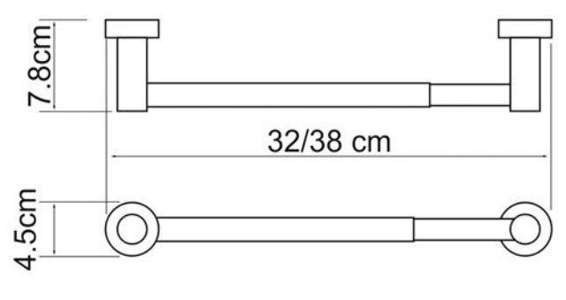 Держатель бумажных полотенец WasserKRAFT Donau K-9491 (К-9422D)  металл, хромоникелевое покрытие, фото