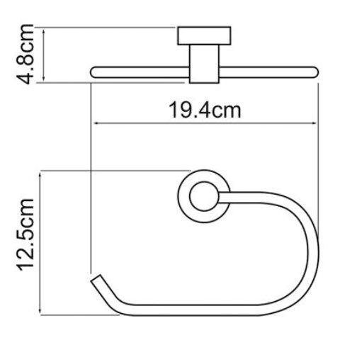 Держатель полотенец WasserKRAFT Donau K-9460 кольцо металл, хромоникелевое покрытие, фото