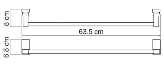 Штанга для полотенец WasserKRAFT Exter K-5230 металл, покрытие