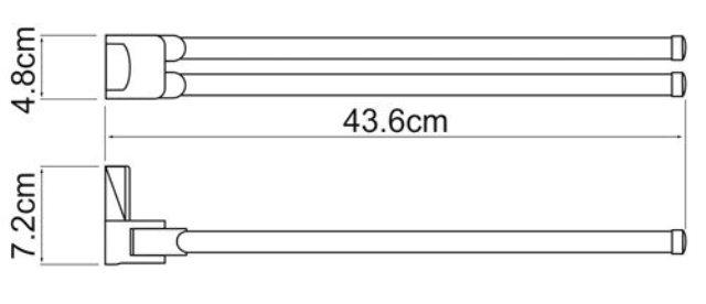 Держатель полотенец WasserKRAFT Exter K-5231 рога металл, покрытие