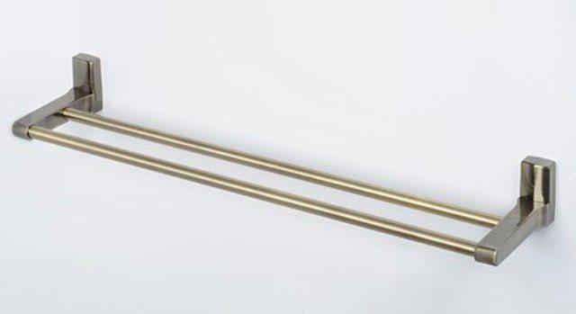 Штанга для полотенец WasserKRAFT Exter K-5240 двойная металл, покрытие светлая бронза, фото