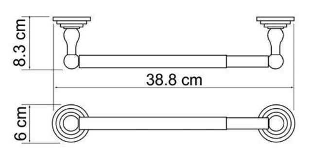 Держатель бумажных полотенец WasserKRAFT Isar K-7391 (К-7322D) металл, покрытие