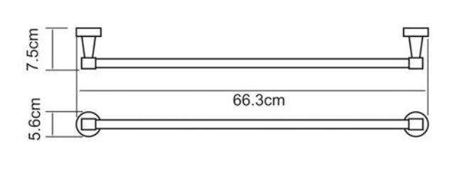 Штанга для полотенец WasserKRAFT Isen K-4030 металл, хромоникелевое покрытие, фото