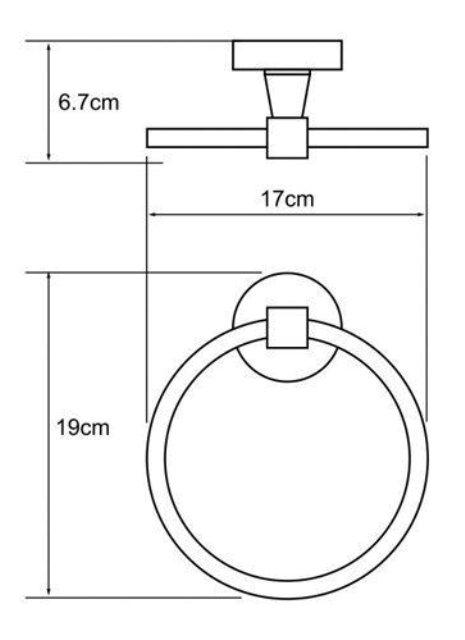 Держатель полотенец кольцо WasserKRAFT Isen K-4060 металл, хромоникелевое покрытие, фото