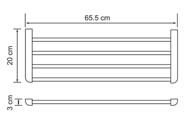 Полка WasserKRAFT Kammel K-8311 для полотенец, фото