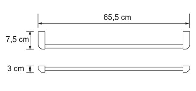 Штанга для полотенец WasserKRAFT Kammel K-8330 металл, хромоникелевое покрытие, фото