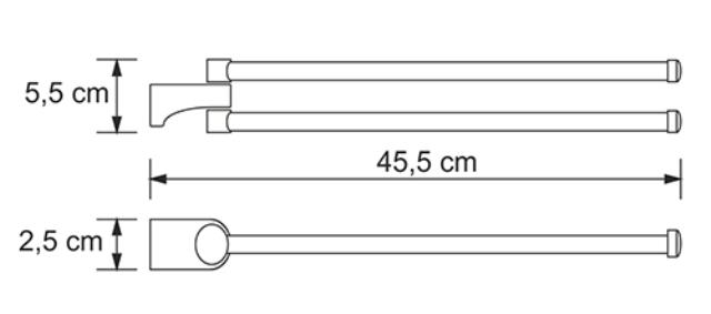 Держатель полотенец WasserKRAFT Kammel K-8331 рога металл, хромоникелевое покрытие, фото