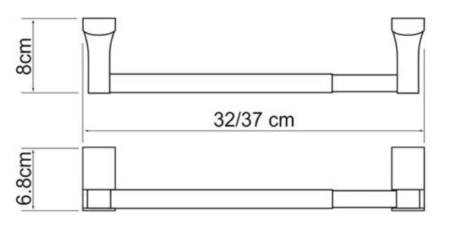 Держатель бумажных полотенец WasserKRAFT Leine K-5091 (К-5022D) металл, хромоникелевое покрытие, фото