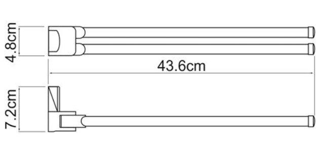 Держатель полотенец WasserKRAFT Leine K-5031 White рога металл, хромоникелевое покрытие, ABS - пластик, фото
