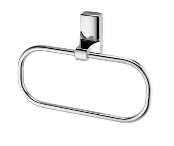 Держатель полотенец WasserKRAFT Leine K-5060 кольцо металл, хромоникелевое покрытие, фото