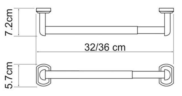 Держатель бумажных полотенец WasserKRAFT Oder K-3091 (К-3022D) металл, хромоникелевое покрытие, фото