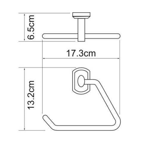 Держатель полотенец WasserKRAFT Oder K-3061 треугольник металл, хромоникелевое покрытие, фото