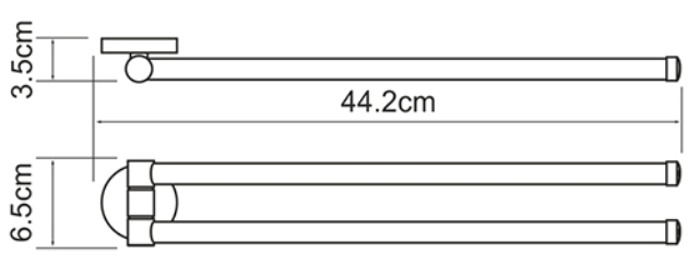 Держатель полотенец WasserKRAFT Rhein K-6231 рога металл, хромоникелевое покрытие, фото