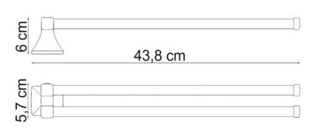 Держатель полотенец WasserKRAFT Wern K-2531 рога металл, хромоникелевое покрытие, фото