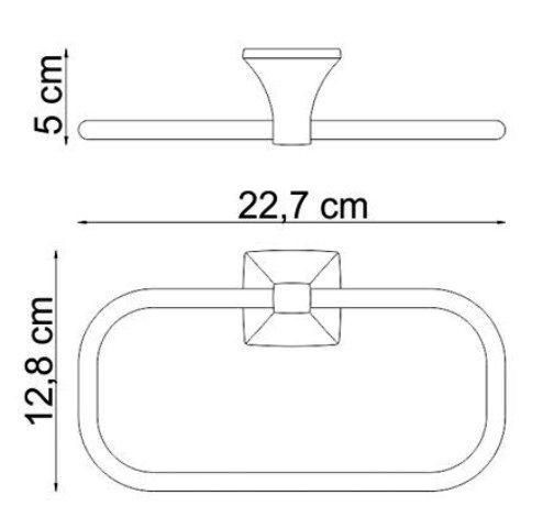 Держатель полотенец WasserKRAFT Wern K-2560 кольцо металл, хромоникелевое покрытие, фото