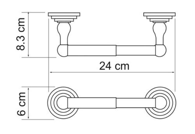 Держатель туалетной бумаги WasserKRAFT Ammer K-7022 металл, покрытие
