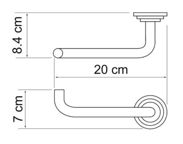Держатель туалетной бумаги WasserKRAFT Ammer K-7096 металл, покрытие