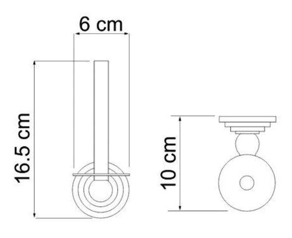 Держатель туалетной бумаги WasserKRAFT Ammer K-7097 металл, покрытие