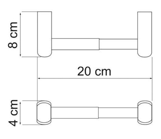 Держатель туалетной бумаги WasserKRAFT Berkel K-6822 металл, хромоникелевое покрытие, фото