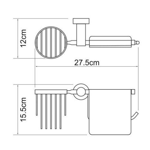 Держатель туалетной бумаги WasserKRAFT Donau K-9459 и освежителя металл, хромоникелевое покрытие, фото