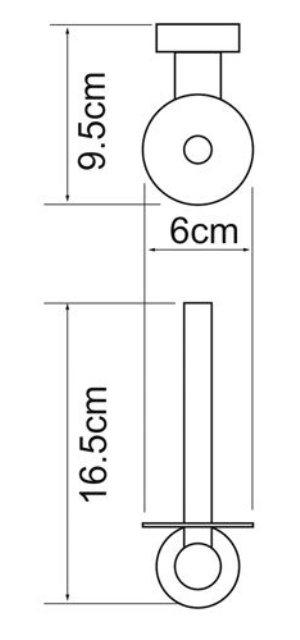 Держатель туалетной бумаги WasserKRAFT Donau K-9497 металл, хромоникелевое покрытие, фото